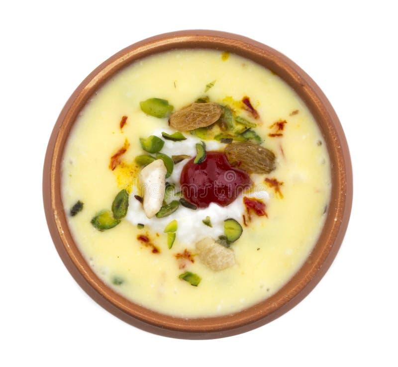 Lassi Sweet Drink food. Indian Sweet drink food Keshariya Lassi royalty free stock image