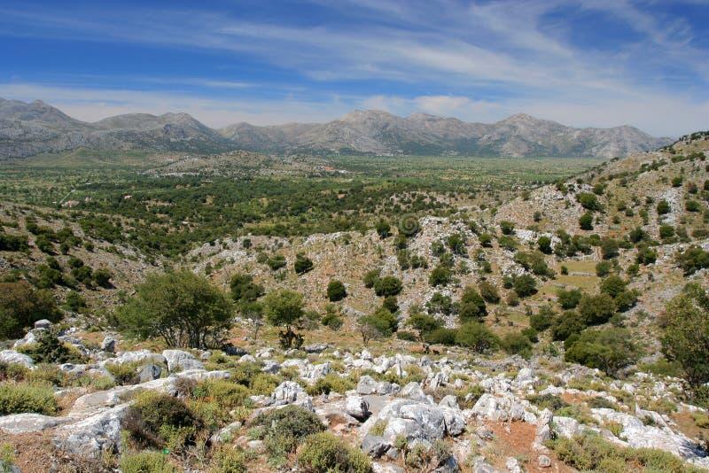 The Lassithi Plateau. In Crete, Greece stock photos