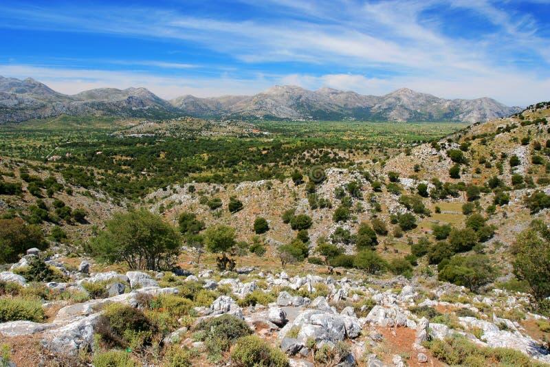 The Lassithi Plateau. Landscape, Greece stock photography