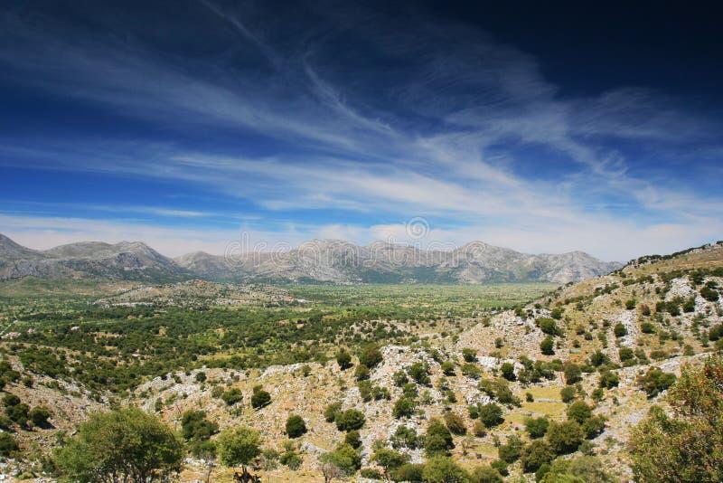 The Lassithi Plateau. Landscape, Greece stock images