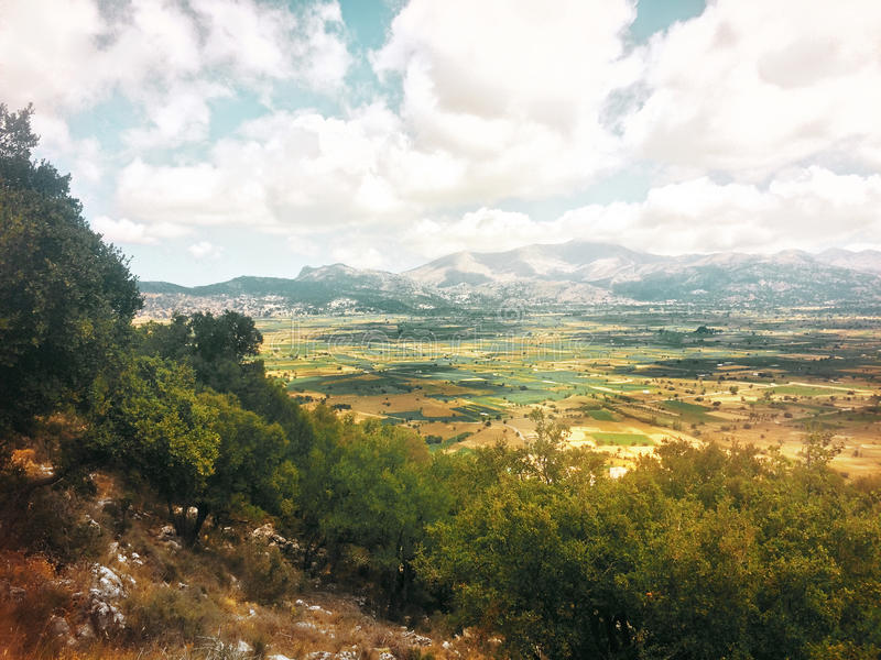 The Lassithi Plateau. Crete. Greece. The picturesque plateau of Lassithi at the foot of the Dictus mountains. Crete. Greece royalty free stock images