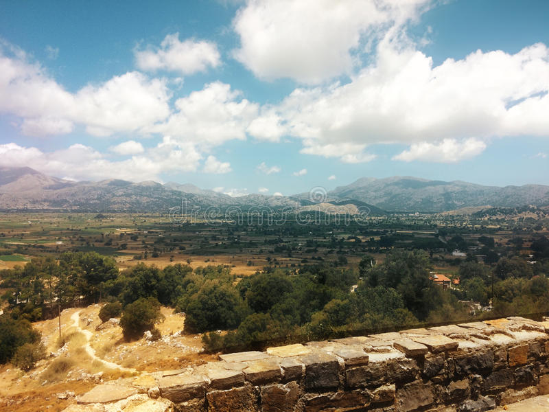 The Lassithi Plateau. Crete. Greece. The picturesque plateau of Lassithi at the foot of the Dictus mountains. Crete. Greece royalty free stock photography