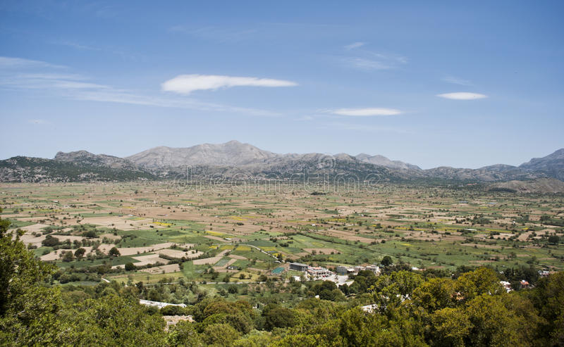 Lassithi plateau. Excellent view on Lassithi plateau on Crete Greece royalty free stock image