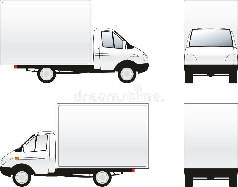 Last åker lastbil royaltyfri illustrationer