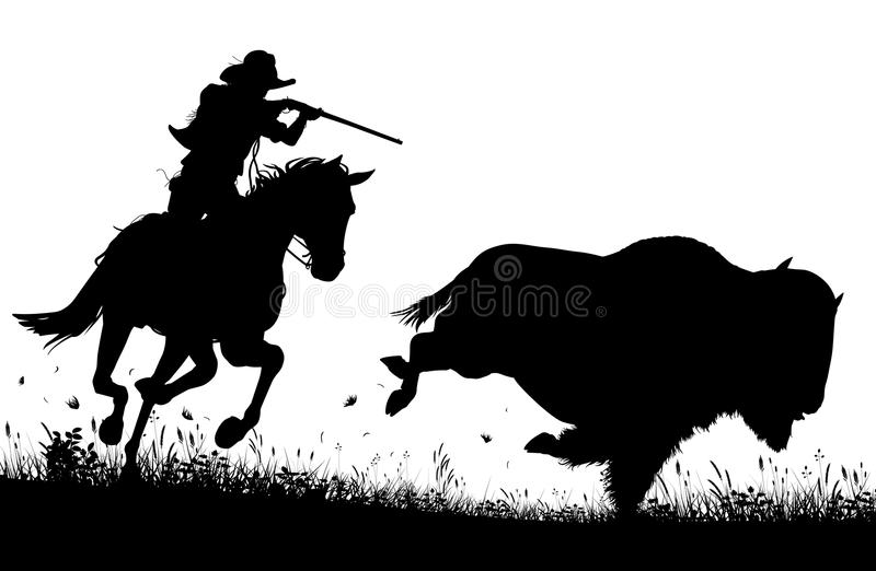 Last bison stock illustration