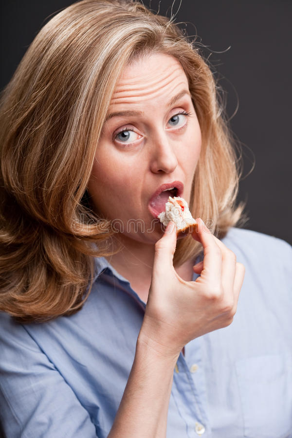 Download Last Bite Of Her Sandwich Stock Images - Image: 10921974