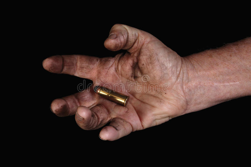 Download Last bullet 2 stock photo. Image of rifle, hand, scar - 12513278