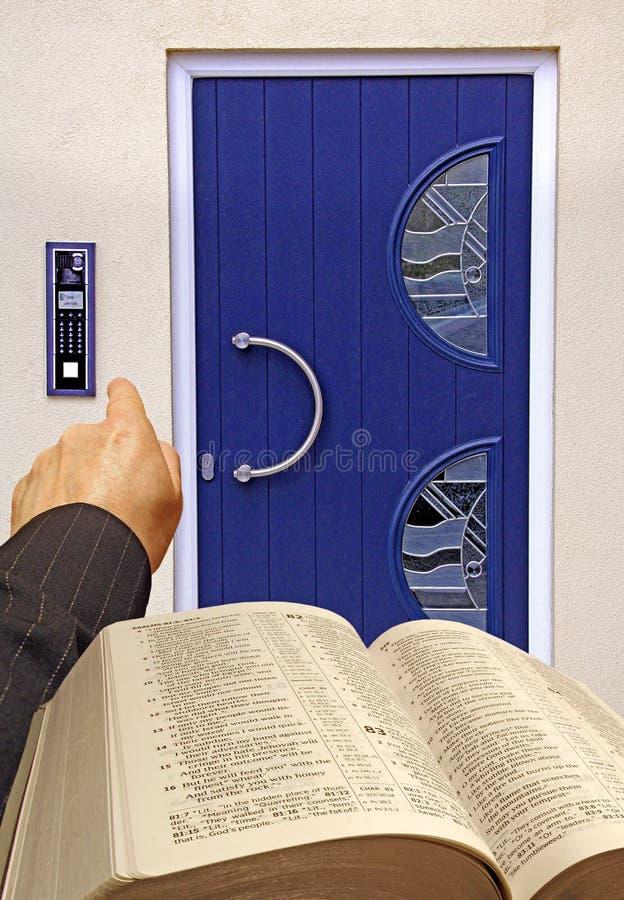 religious bible caller stock photography