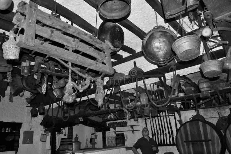 Last century wine house stock image