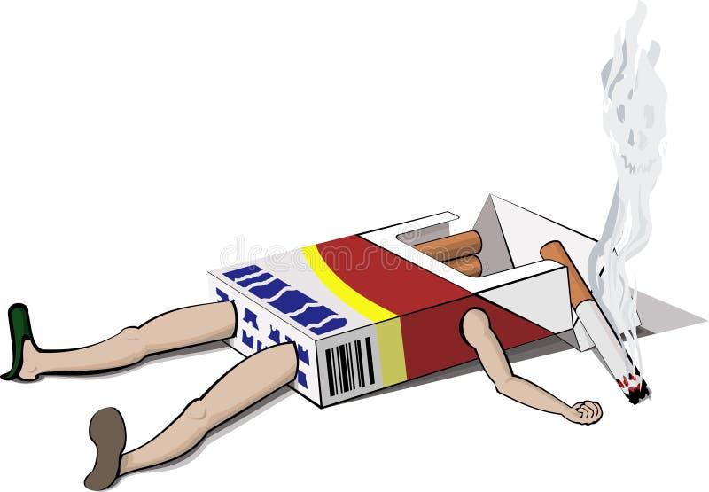 Download The last cigarette stock vector. Illustration of cartoon - 4582825