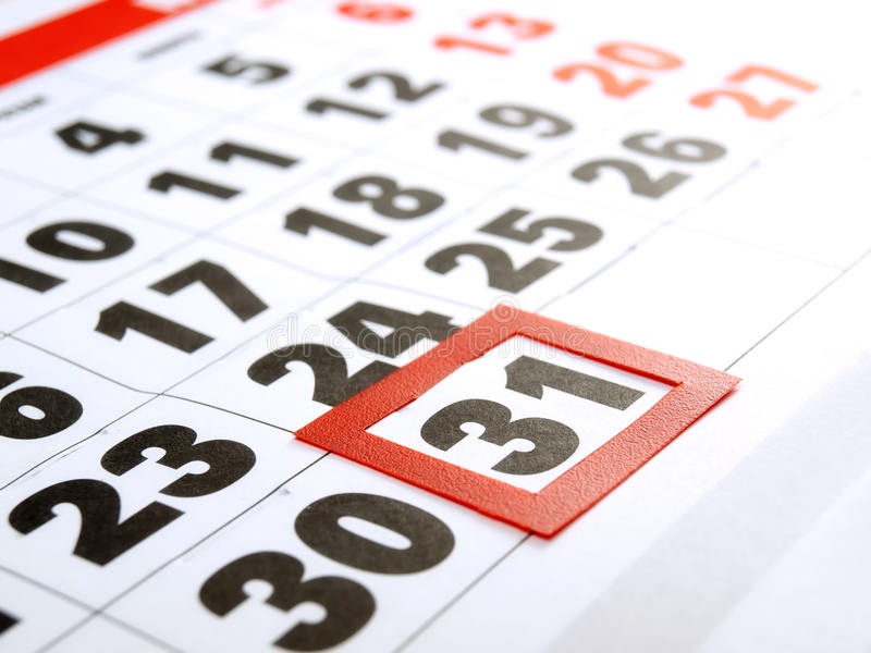 Download Last day stock photo. Image of calendar, reminder, closeup - 24540752