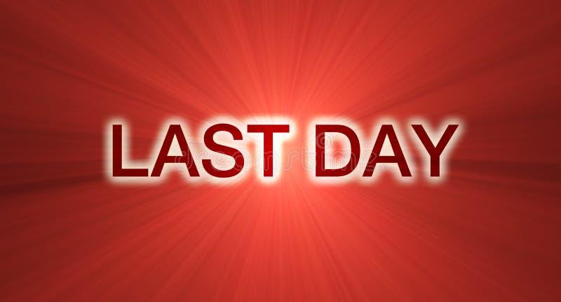 Download Last Day Sale Banner In Red Stock Illustration - Illustration: 3023806