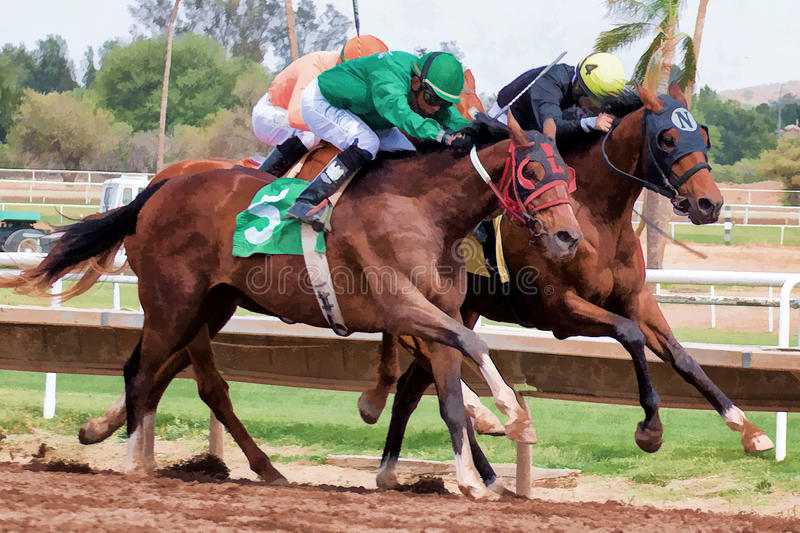 Last Horse Races In Arizona Until Fall. Turf Paradise celebrated its 61st year of operation. Last day of horse racing until fall at Turf Paradise horse racing royalty free stock photo