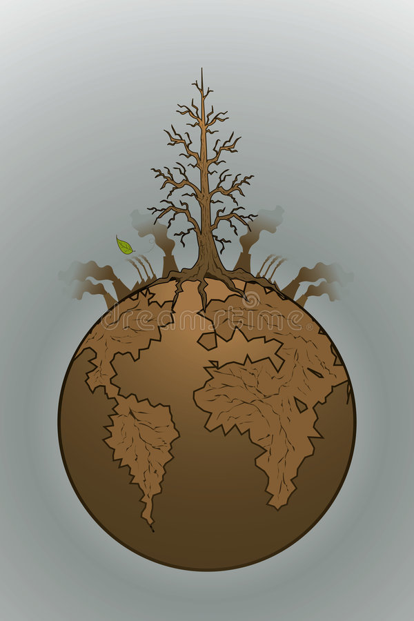 Last leaf fall. Save our planet,don't wait till the last leaf fall vector illustration