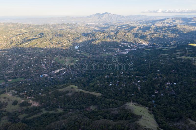 Aerial of Tri-Valley in Bay Area of Northern California stock images