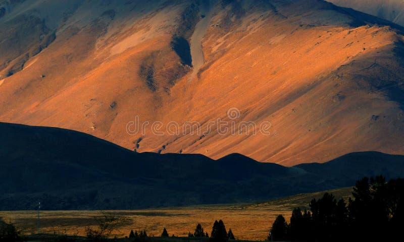 Last light on The Two Thumb Range. royalty free stock photos
