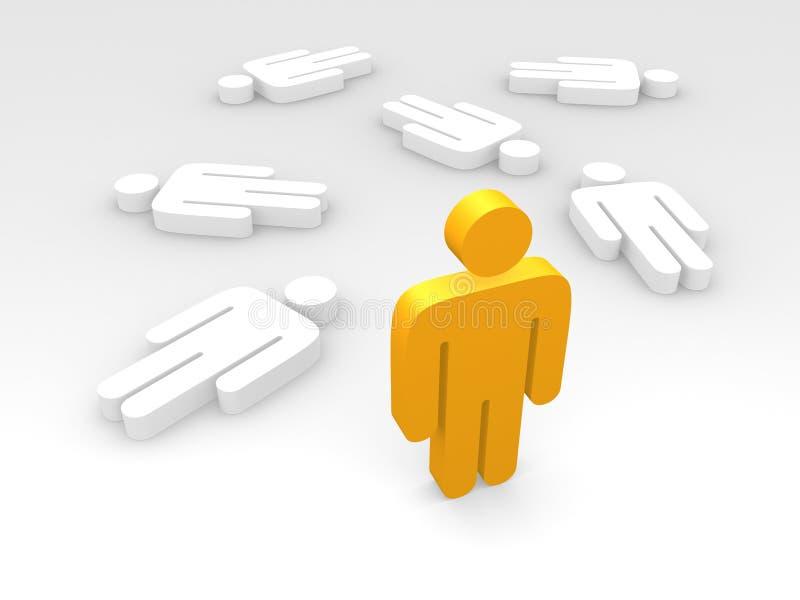 Download Last man standing stock illustration. Illustration of dead - 6549966