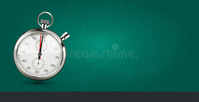 Last minute concept - stopwatch on green background royalty free illustration