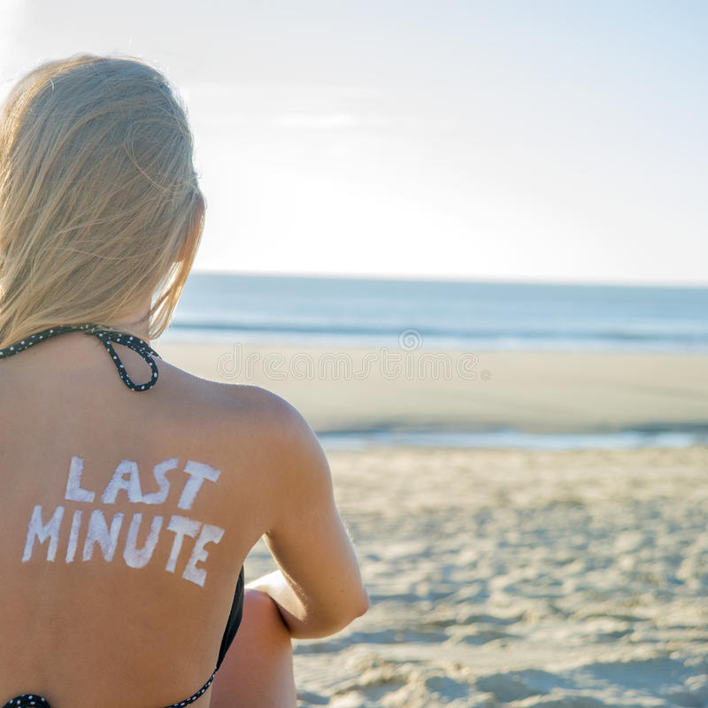 Download Last Minute Girl stock photo. Image of attractive, back - 35354224