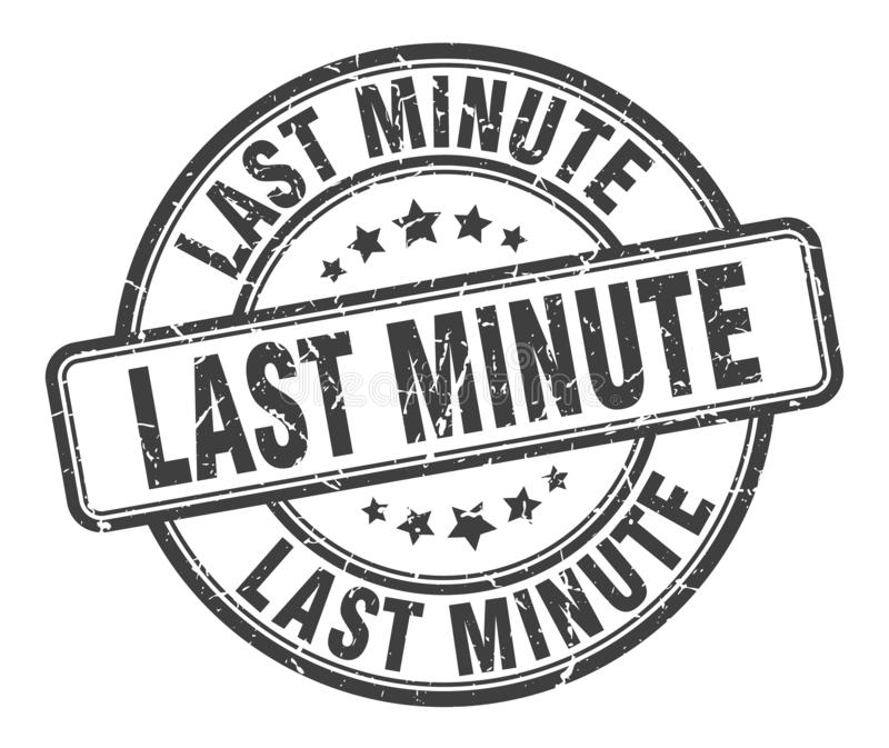 last minute stamp royalty free illustration