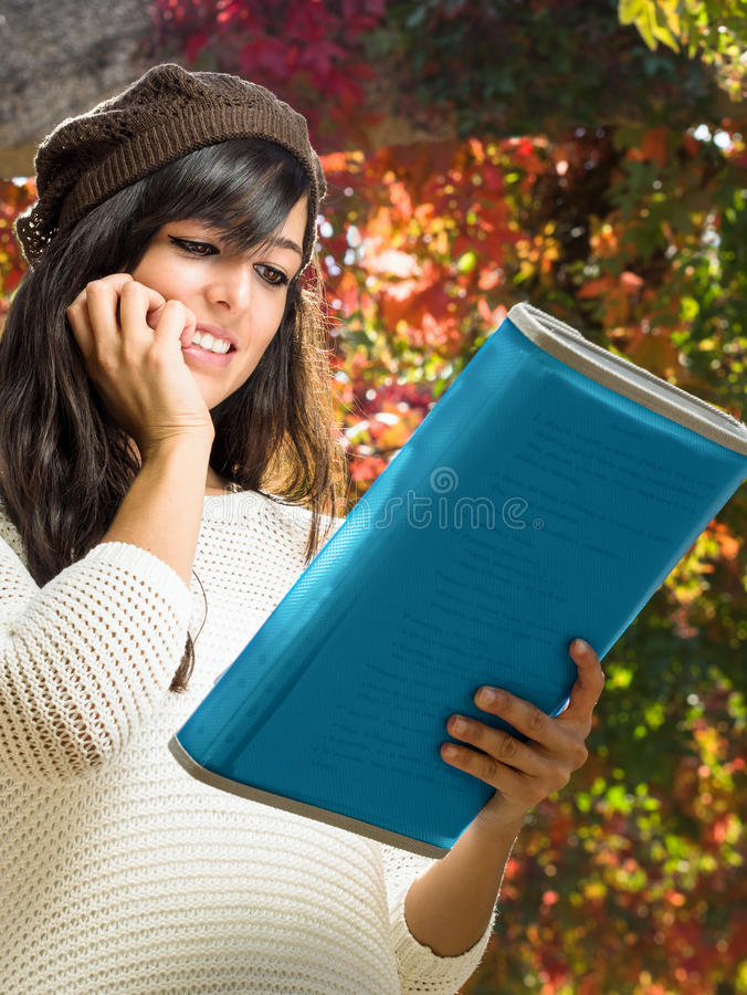 Download Last minute studying stock photo. Image of holding, jersey - 26855232