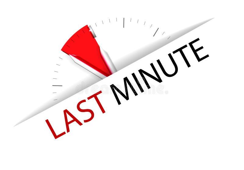 Last Minute Stock Vector