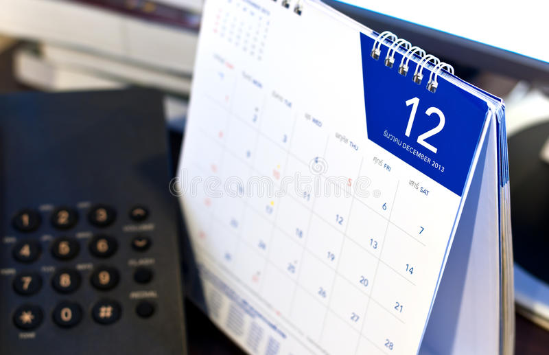 Last month on the calendar. December 2013.Last month on the calendar royalty free stock photography