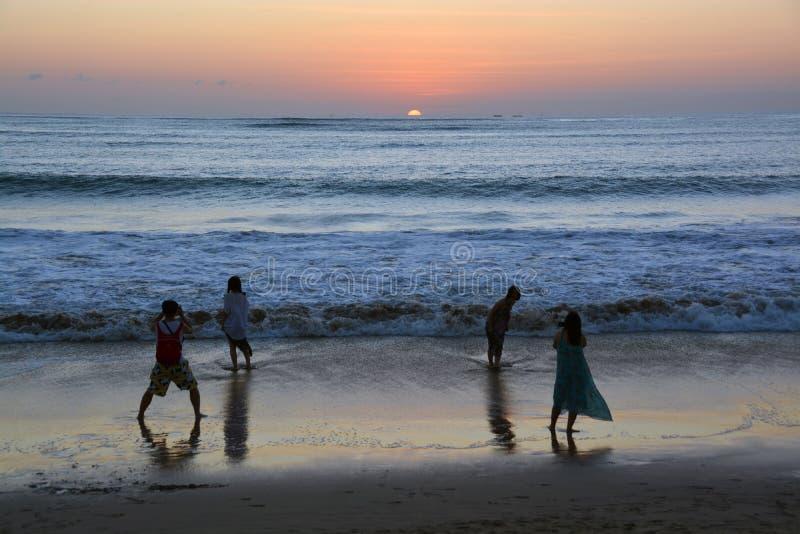 Last Photo of the Day at Jimbaran Bay, Bali stock photo