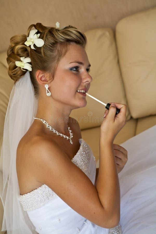 Last preparing for wedding ceremony stock image