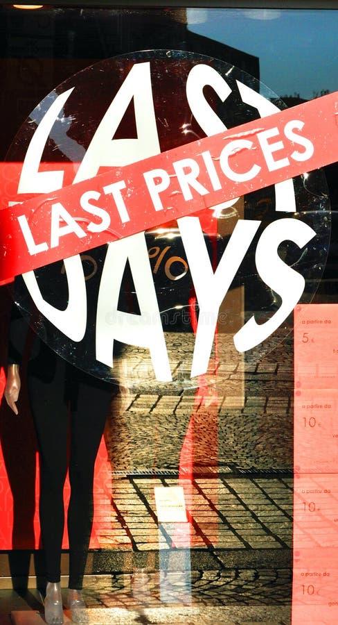 Last Price, Last Days Stock Photo