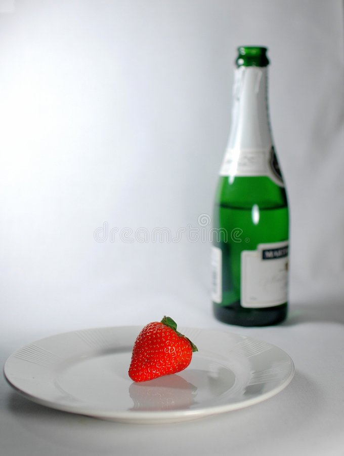 Download Last Strawberry Stock Image - Image: 520281
