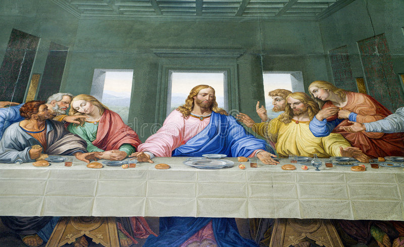 Download Last super of Christ stock illustration. Illustration of martyrium - 9358418