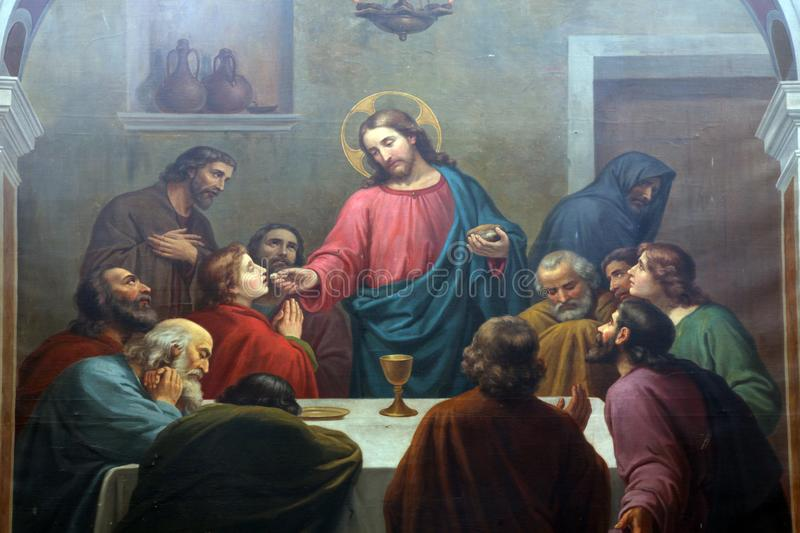 Last Supper royalty free stock photography