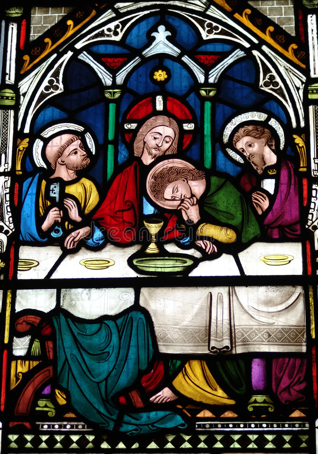 Download The Last Supper stock image. Image of window, jesus, color - 8798543