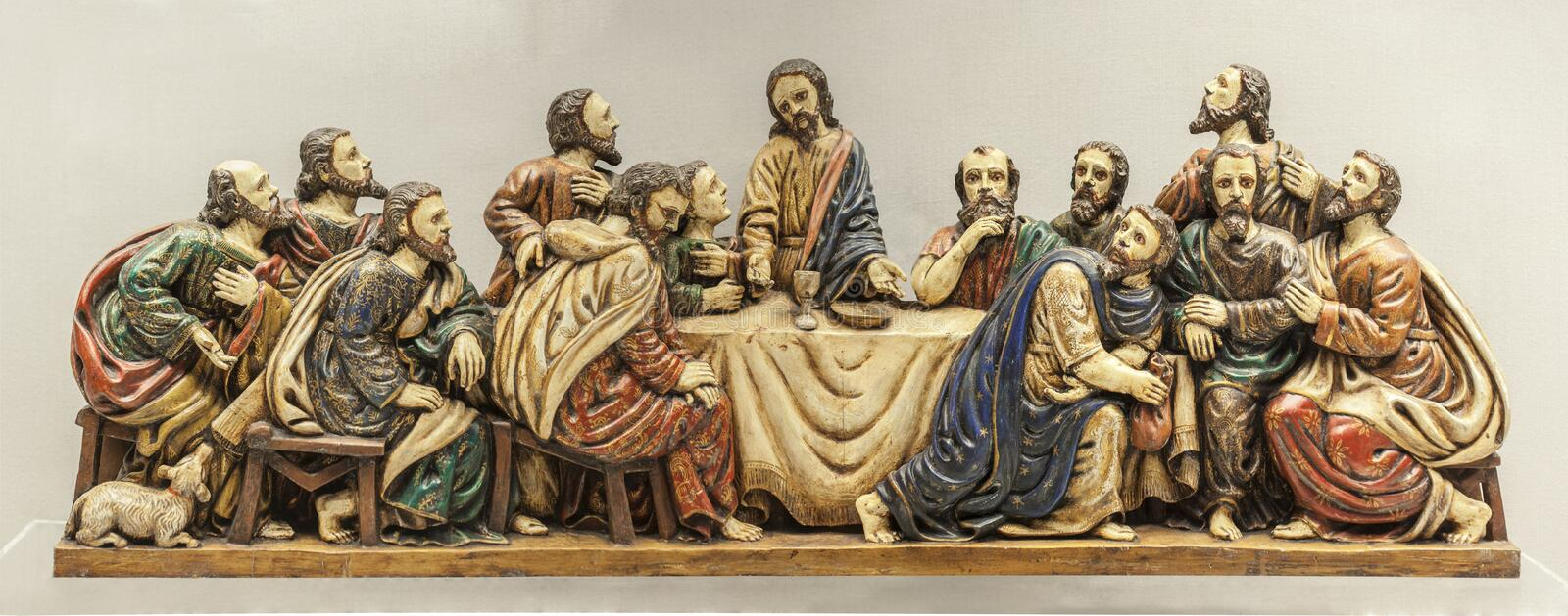 Last Supper depiction stock image