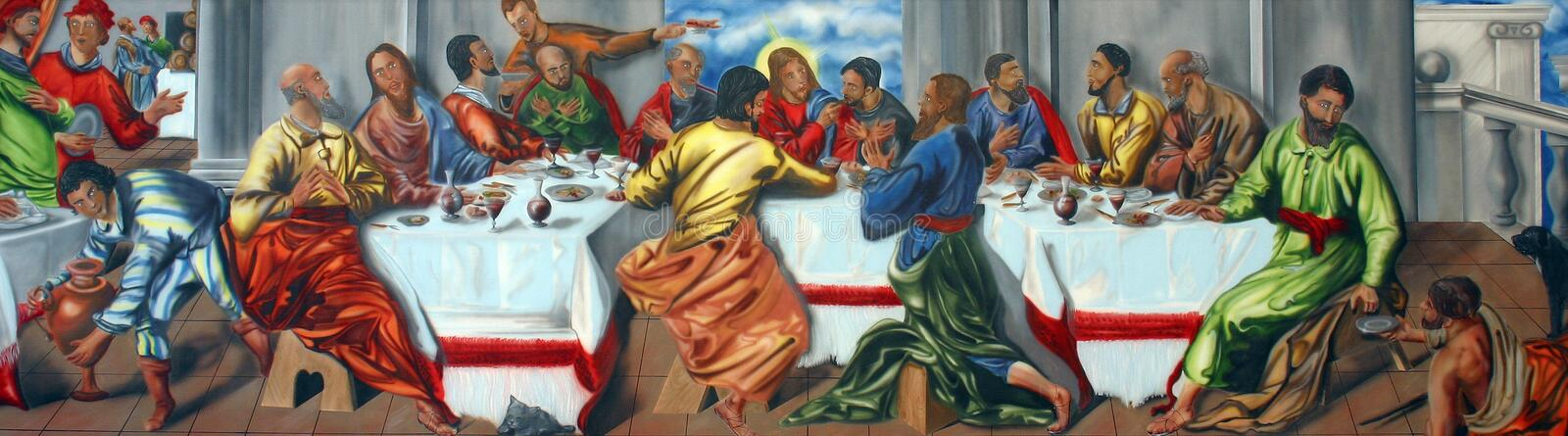 Last Supper. Of Jesus Christ royalty free stock images