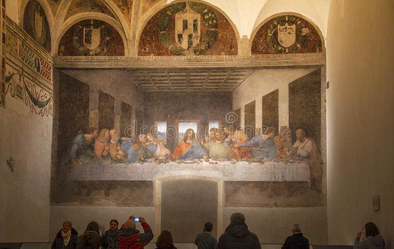 The Last Supper in Milan royalty free stock images