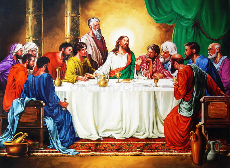 Last Supper. An old picture of Last Supper, from an anonymous author