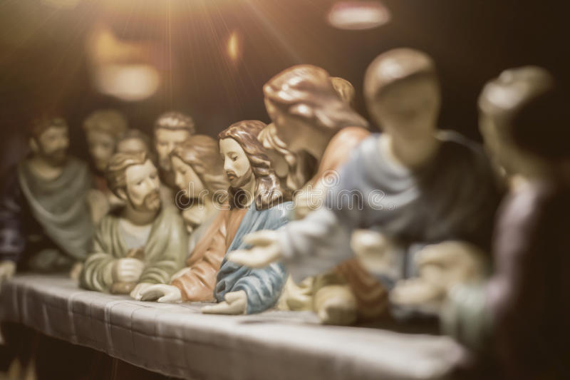 The Last Supper is one of the most famous scenes. Of Jesus christ royalty free stock photos