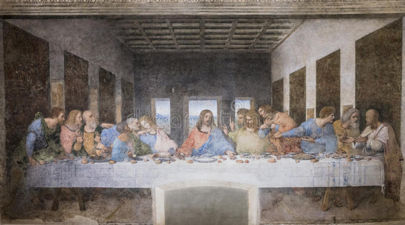 Last Supper painting stock photography