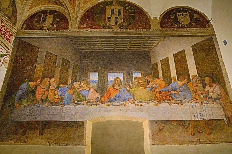 Last Supper painting royalty free stock photos