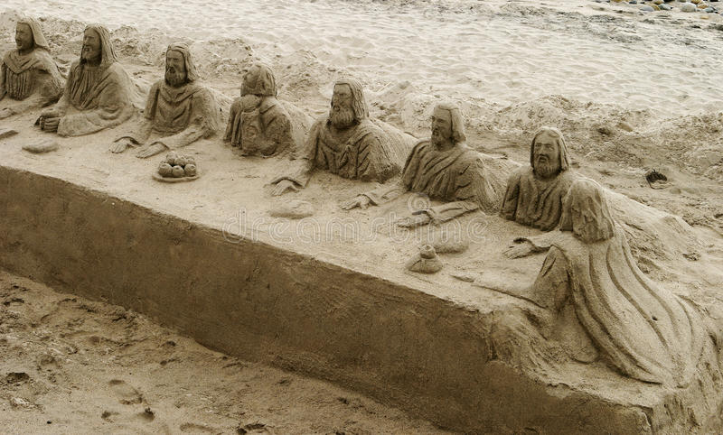 Download Last Supper In The Sand editorial photo. Image of jesus - 19890786