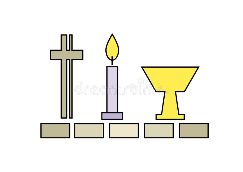 Last Supper Symbols Religionchristianity Stock Vector