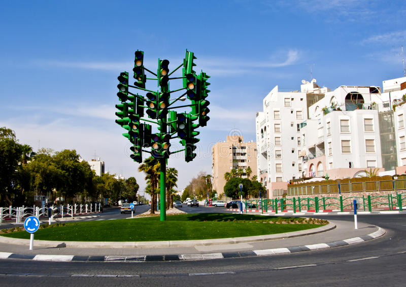 Download The Last Traffic Light At Eilat, Israel Editorial Photography - Image: 17058732