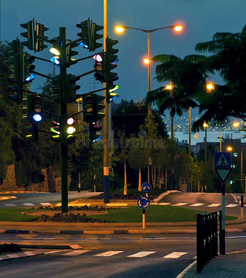 The last traffic light at Eilat, Israel