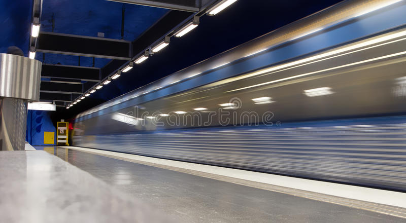 Download The last train leaves stock photo. Image of metro, blur - 30621330