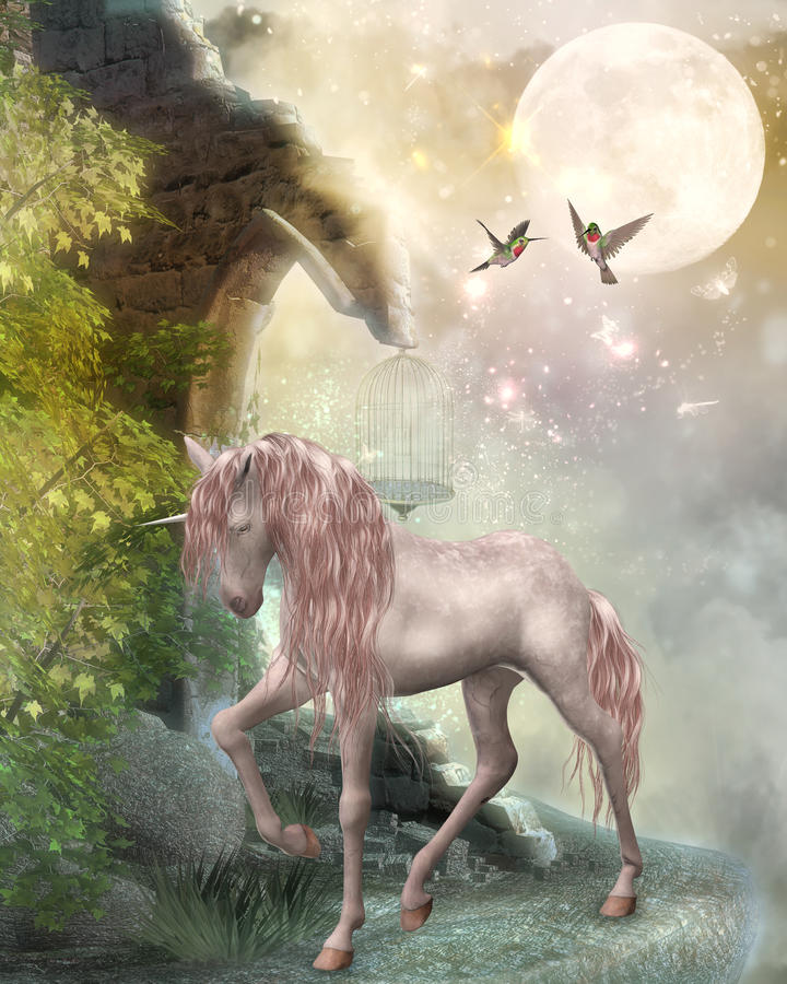 Last unicorn vector illustration