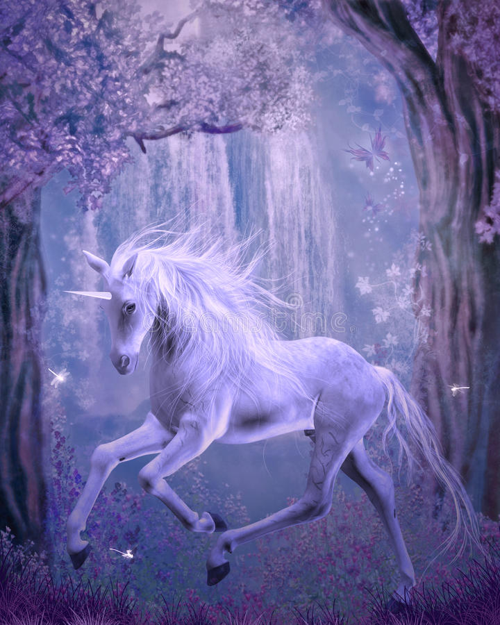 Last unicorn royalty free illustration