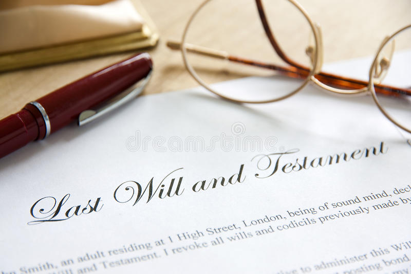 Last Will & Testament royalty free stock images