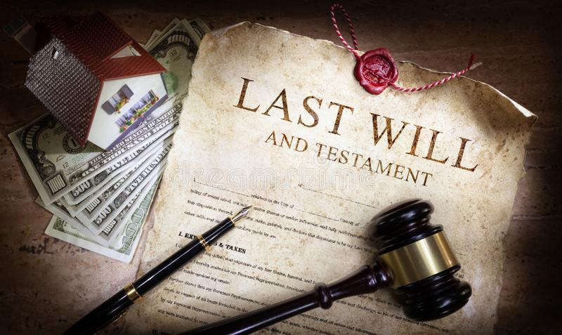 Last Will And Testament With Money royalty free stock photography